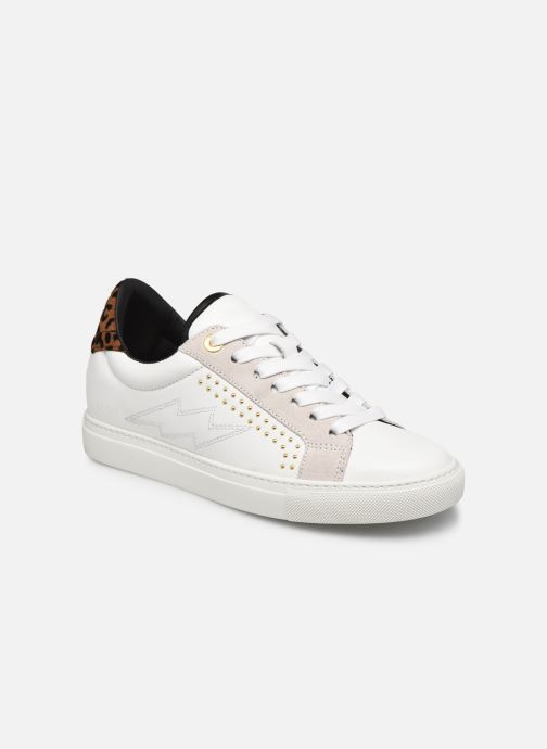 Baskets Zadig & Voltaire Zv1747 Smooth C Blanc vue détail/paire
