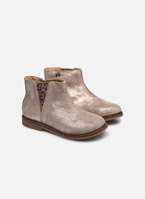 Bottines et boots Pom d Api Retro Stitch Boots Beige vue 3/4