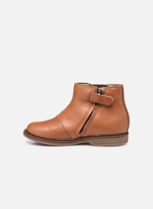 Boots en enkellaarsjes Pom d Api Retro Stitch Boots Bruin voorkant