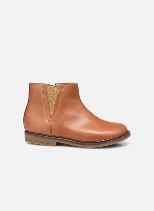 Boots en enkellaarsjes Pom d Api Retro Stitch Boots Bruin achterkant