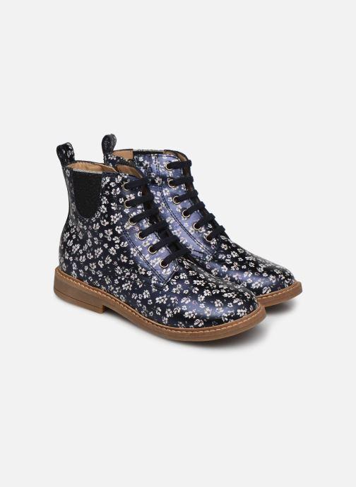 Bottines et boots Pom d Api Retro Hi Jod Bleu vue 3/4