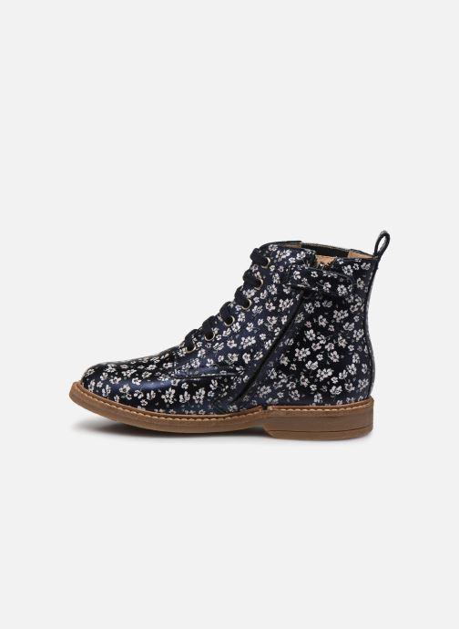 Bottines et boots Pom d Api Retro Hi Jod Bleu vue face