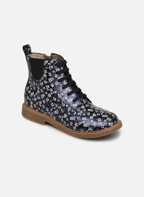 Bottines et boots Pom d Api Retro Hi Jod Bleu vue détail/paire