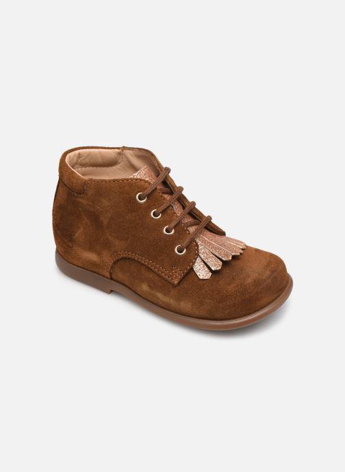 Boots en enkellaarsjes Pom d Api Nioupi Mex Bruin detail
