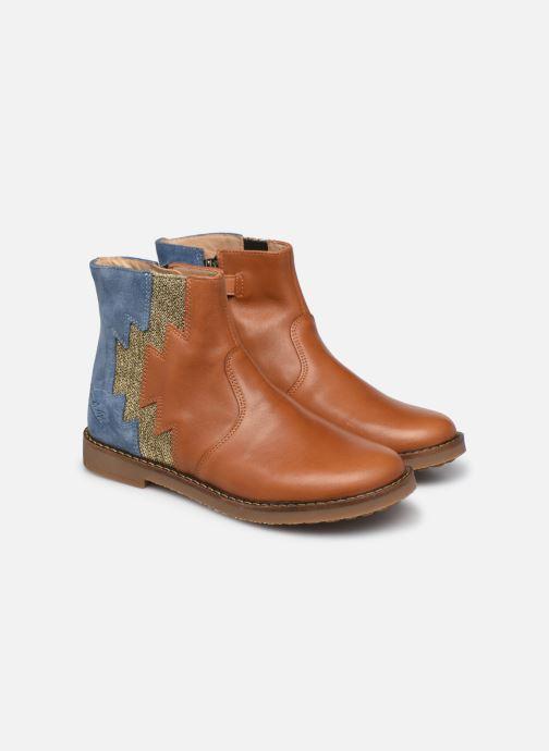 Bottines et boots Pom d Api Trip Elastek Marron vue 3/4