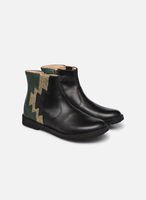 Bottines et boots Pom d Api Trip Elastek Noir vue 3/4