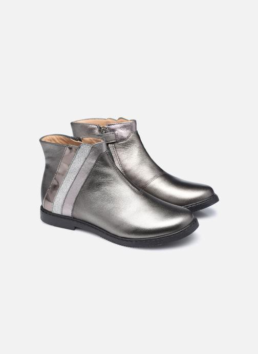 Bottines et boots Pom d Api City Paon Argent vue 3/4