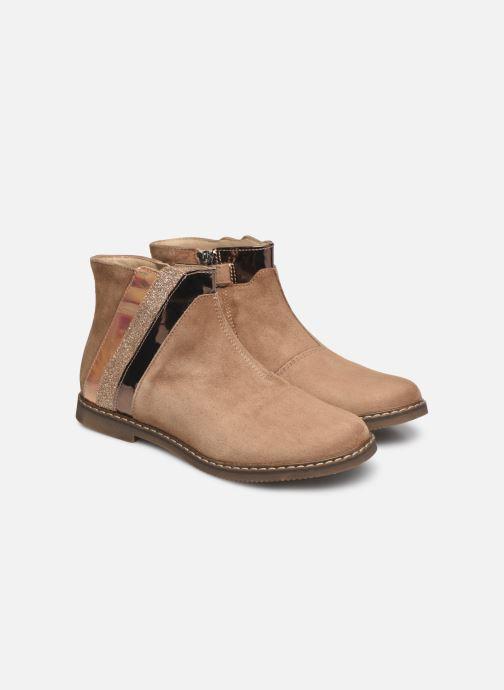 Bottines et boots Pom d Api City Paon Marron vue 3/4