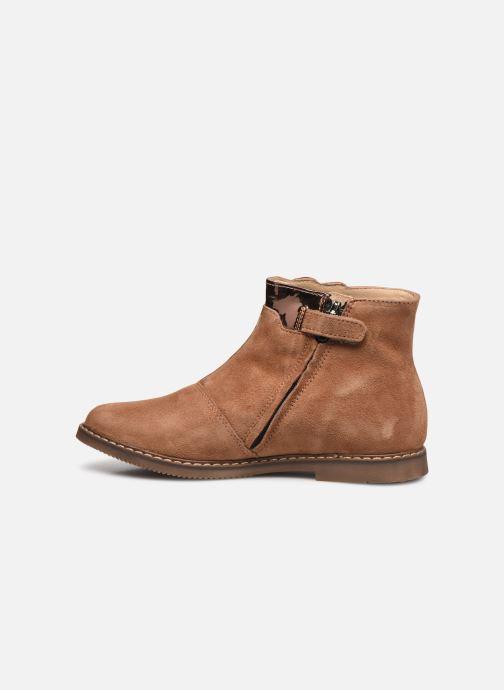 Bottines et boots Pom d Api City Paon Marron vue face