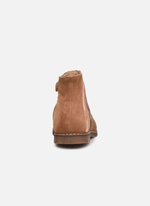 Bottines et boots Pom d Api City Paon Marron vue droite
