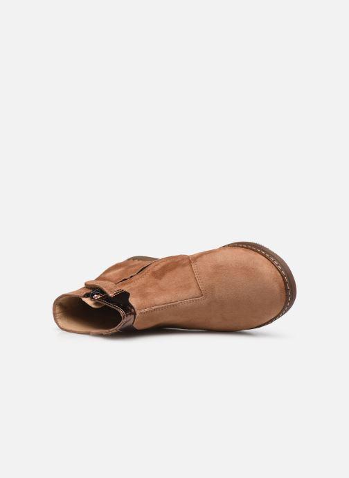 Bottines et boots Pom d Api City Paon Marron vue gauche