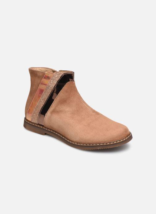 Bottines et boots Pom d Api City Paon Marron vue détail/paire