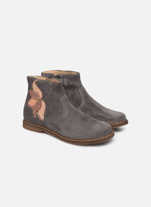 Bottines et boots Pom d Api City Flowers Gris vue 3/4