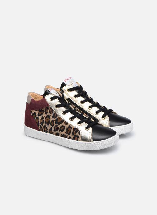 Sneakers Pom d Api Top Zip Lace Bruin 3/4'