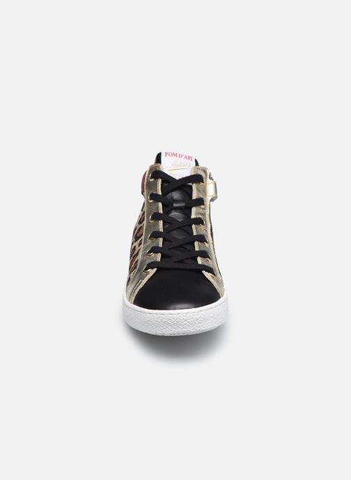 Baskets Pom d Api Top Zip Lace Marron vue portées chaussures