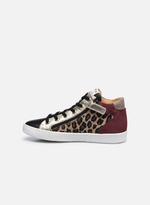 Sneakers Pom d Api Top Zip Lace Bruin voorkant