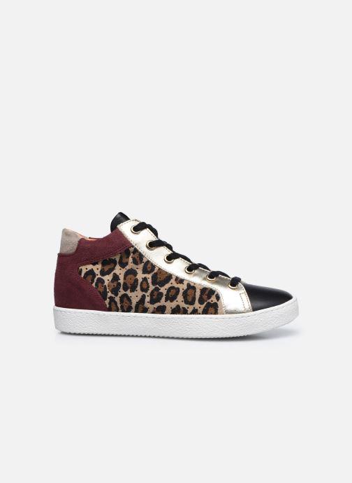 Sneakers Pom d Api Top Zip Lace Bruin achterkant