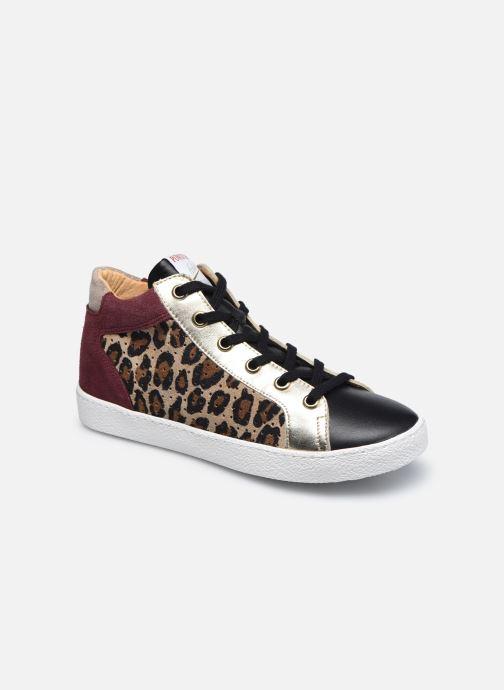 Sneakers Pom d Api Top Zip Lace Bruin detail