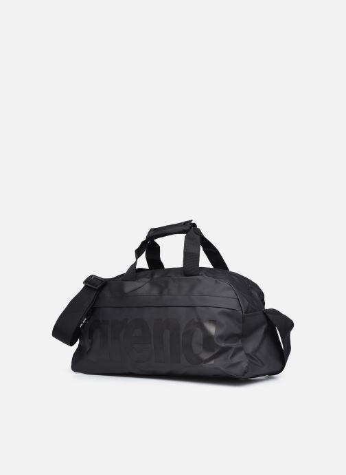 Sporttaschen Arena Team Duffle 25 All Black schwarz schuhe getragen
