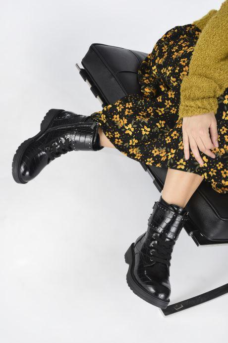 Bottines et boots Guess FL7WAN PEL10 Noir vue bas / vue portée sac