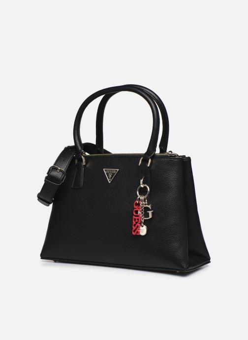 Handtaschen Guess BECCA SATCHEL schwarz schuhe getragen
