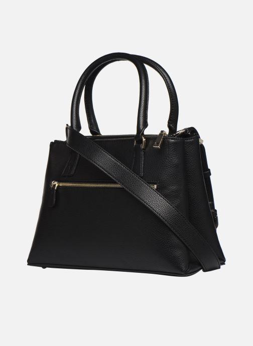 Handtaschen Guess BECCA SATCHEL schwarz ansicht von rechts