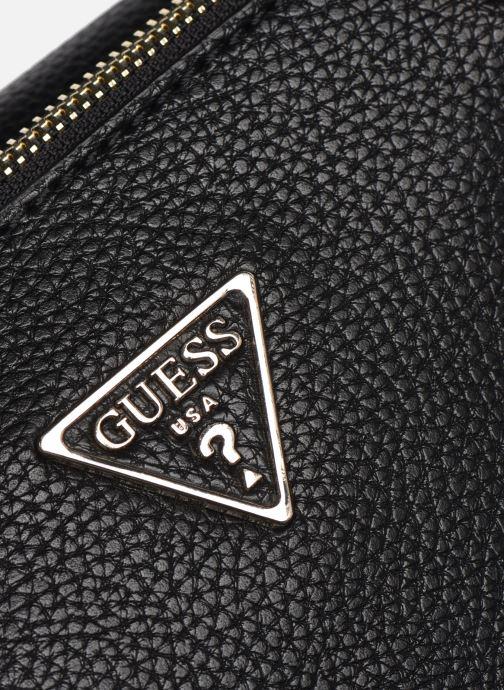 Handtaschen Guess BECCA SATCHEL schwarz ansicht von links