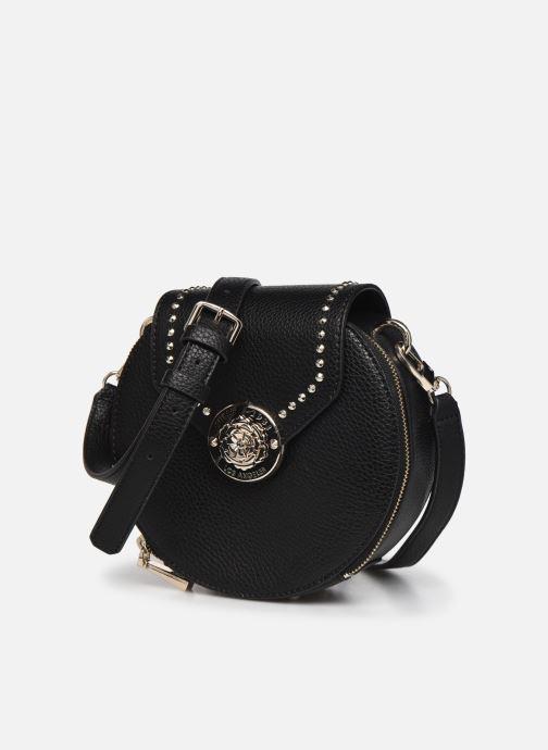 Handtaschen Guess BELLE ISLE MINI ROUND CASE schwarz schuhe getragen