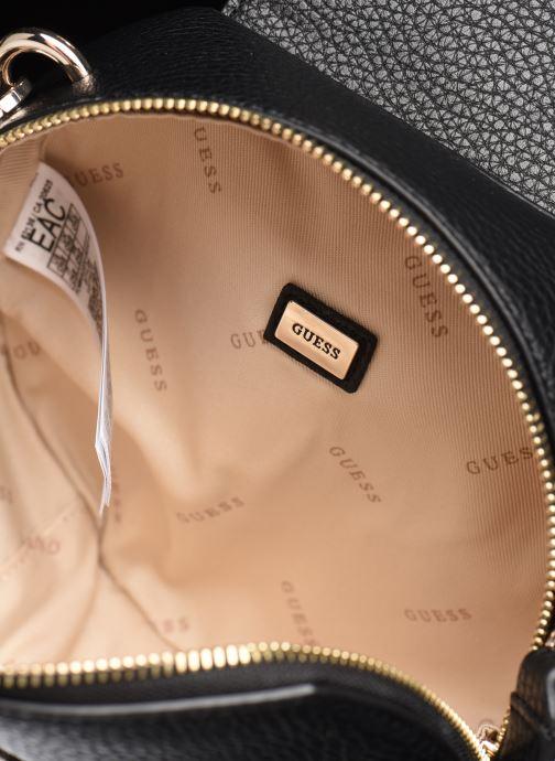 Handtaschen Guess BELLE ISLE MINI ROUND CASE schwarz ansicht von hinten
