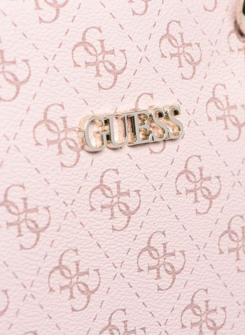 Bolsos de mano Guess CAMY SMALL GIRLFRIEND SATCHEL Rosa vista lateral izquierda
