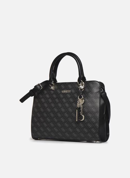 Bolsos de mano Guess CAMY LARGE GIRLFRIEND SATCHEL Negro vista del modelo