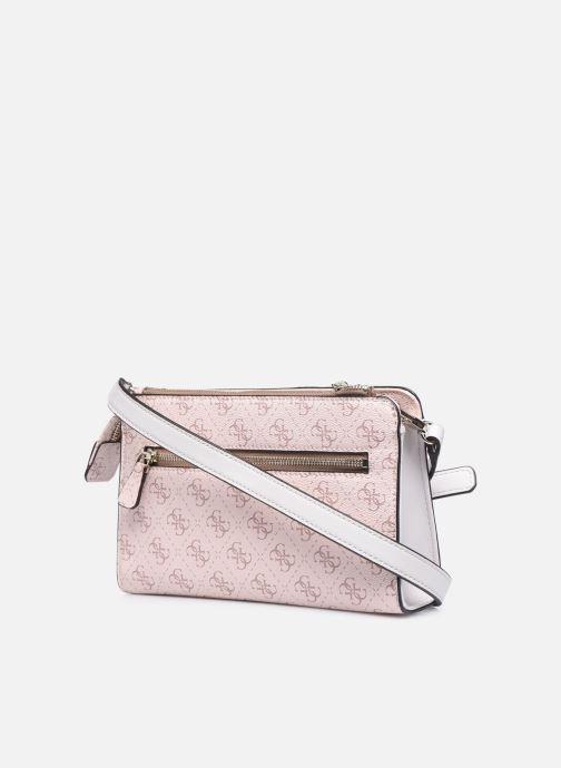 Handtaschen Guess CAMY MINI CROSSBODY rosa ansicht von rechts