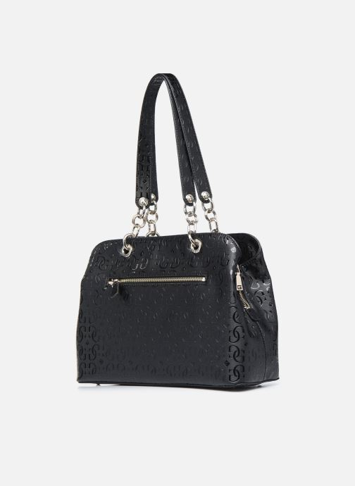 Bolsos de mano Guess CHIC SHINE LARGE GIRLFRIEND SATCHEL Negro vista lateral derecha