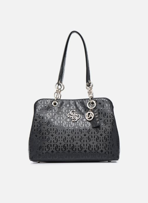 Bolsos de mano Guess CHIC SHINE LARGE GIRLFRIEND SATCHEL Negro vista de detalle / par