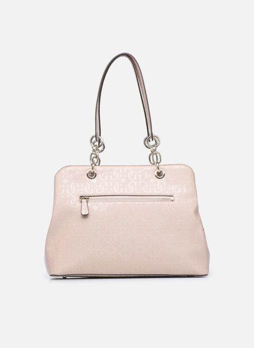 Bolsos de mano Guess CHIC SHINE LARGE GIRLFRIEND SATCHEL Rosa vista de frente
