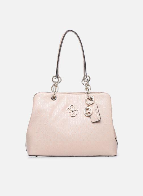 Bolsos de mano Guess CHIC SHINE LARGE GIRLFRIEND SATCHEL Rosa vista de detalle / par