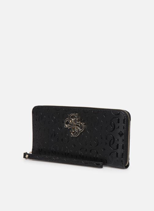 Petite Maroquinerie Guess CHIC SHINE LARGE ZIP AROUND Noir vue portées chaussures