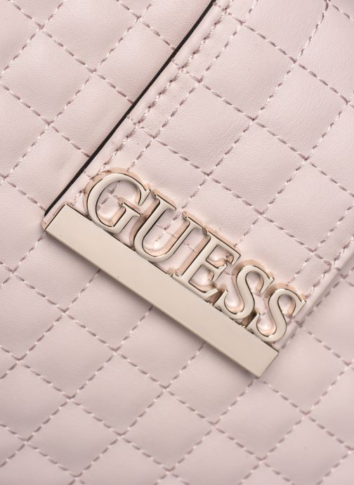 Sacs à main Guess MATRIX SATCHEL Beige vue gauche