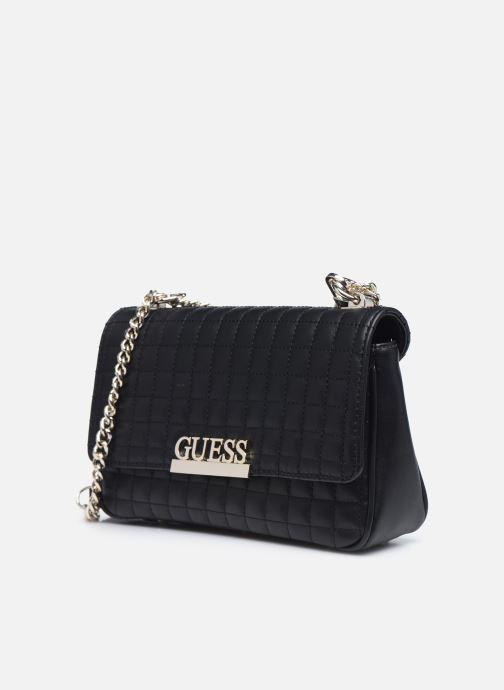 Bolsos de mano Guess MATRIX CROSSBODY Negro vista del modelo