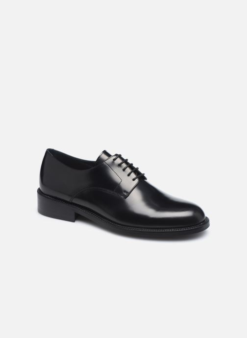 Snøresko Jonak DOI Sort detaljeret billede af skoene