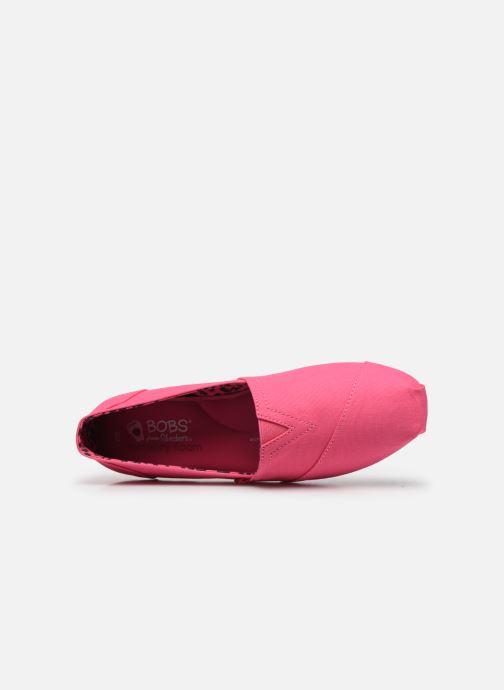 Alpargatas Skechers Bobs Plush Peace & Love Rosa vista lateral izquierda