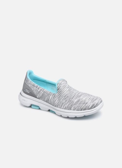 Baskets Skechers Go Walk 5 Fantastic Gris vue détail/paire