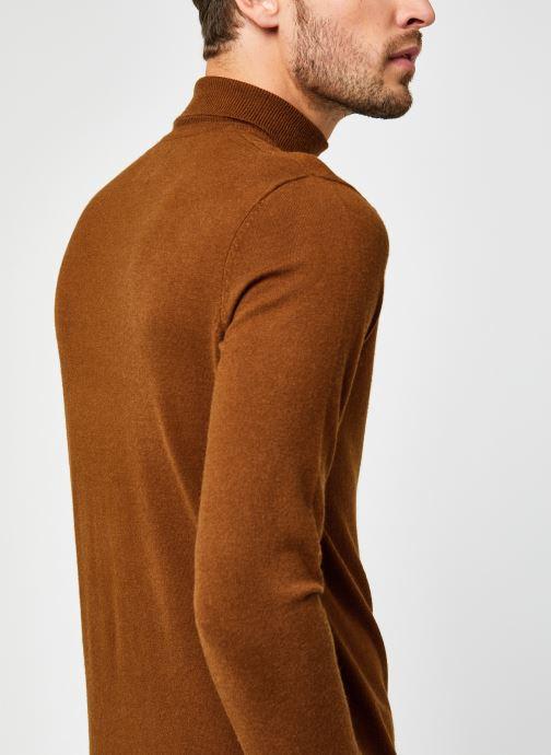 Vêtements Only & Sons Onsmikkel High Neck Knit Marron vue face
