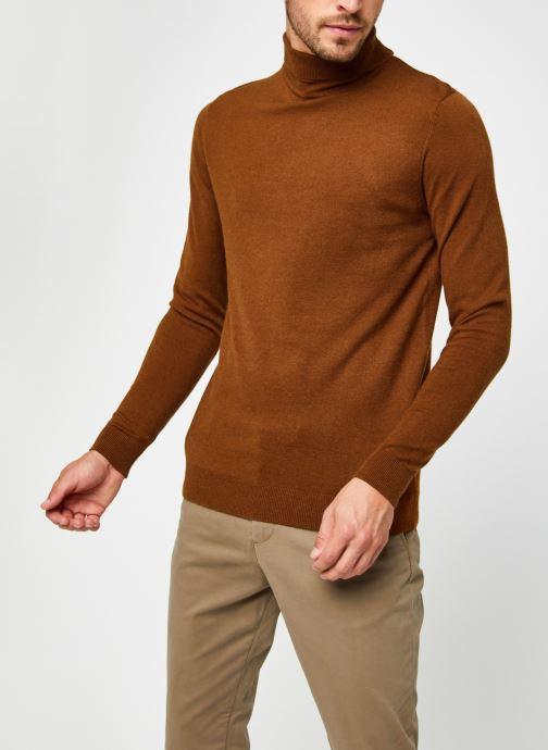 Vêtements Only & Sons Onsmikkel High Neck Knit Marron vue droite