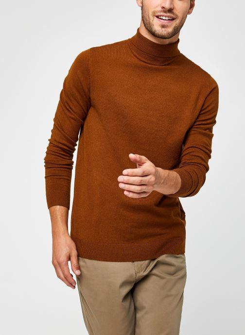 Vêtements Only & Sons Onsmikkel High Neck Knit Marron vue détail/paire