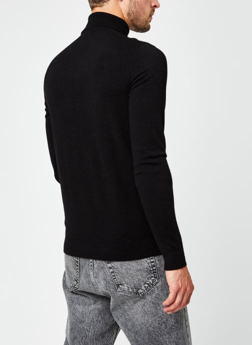 Vêtements Only & Sons Onsmikkel High Neck Knit Noir vue portées chaussures