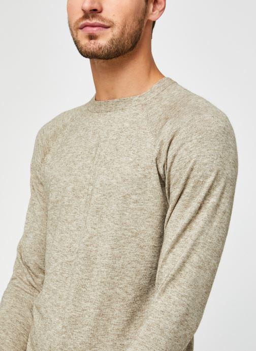 Vêtements Only & Sons Onsmikkel Crew Raglan Knit Beige vue face