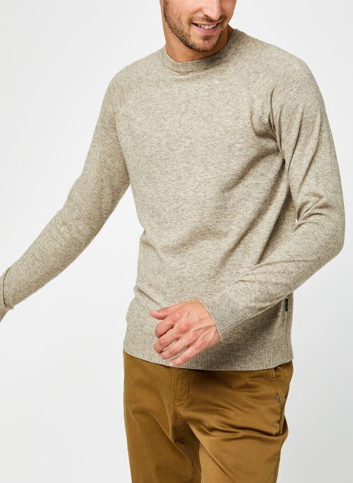 Vêtements Only & Sons Onsmikkel Crew Raglan Knit Beige vue droite
