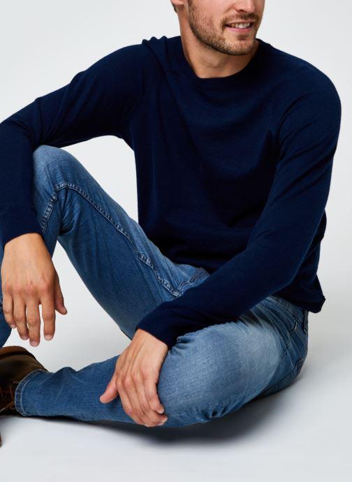 Vêtements Only & Sons Onsmikkel Crew Raglan Knit Bleu vue détail/paire