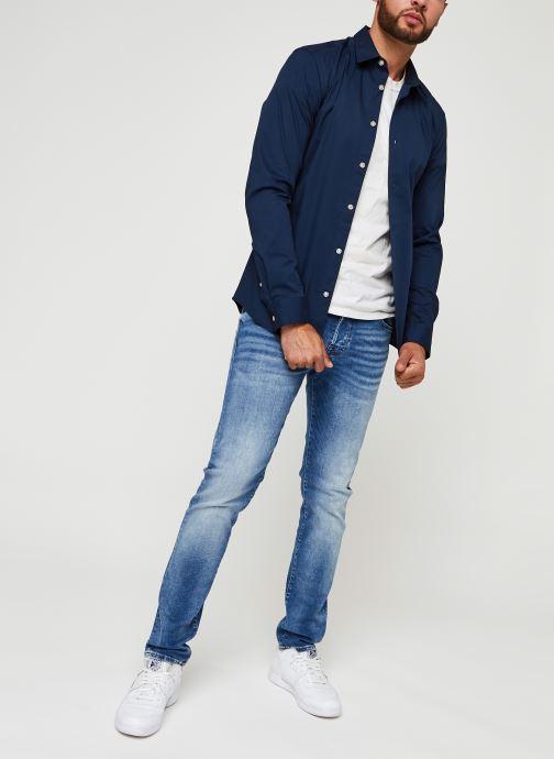 Vêtements Only & Sons Onsbart Life Organic Shirt Bleu vue bas / vue portée sac